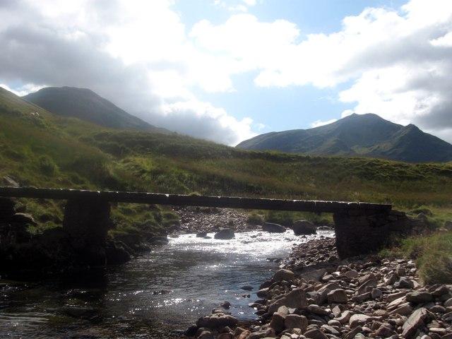 Footbridge over the River Cononish