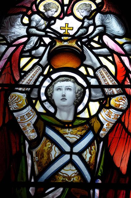 McCorquodale window detail, St Conan's Kirk