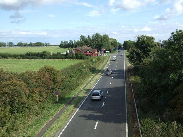 A1 southbound near Alwalton