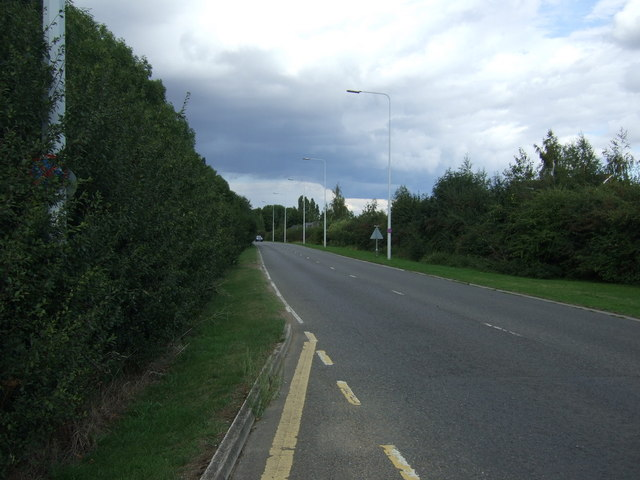 A605 heading east
