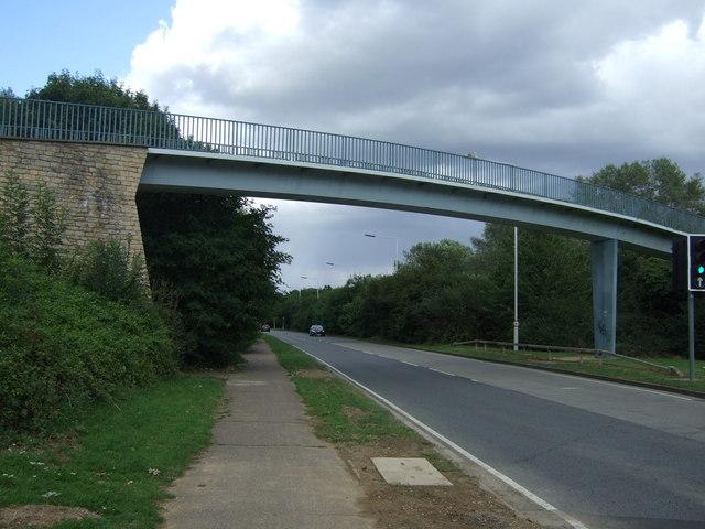 Footbridge over Oundle Road (A605)