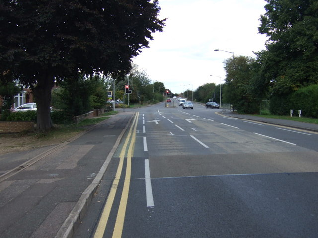 Oundle Road (A605) approaching traffic lights