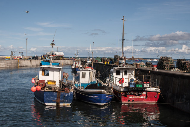 Fishing Boats in Seahouses Harbour