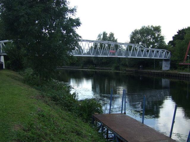Footbridge over the River Nene