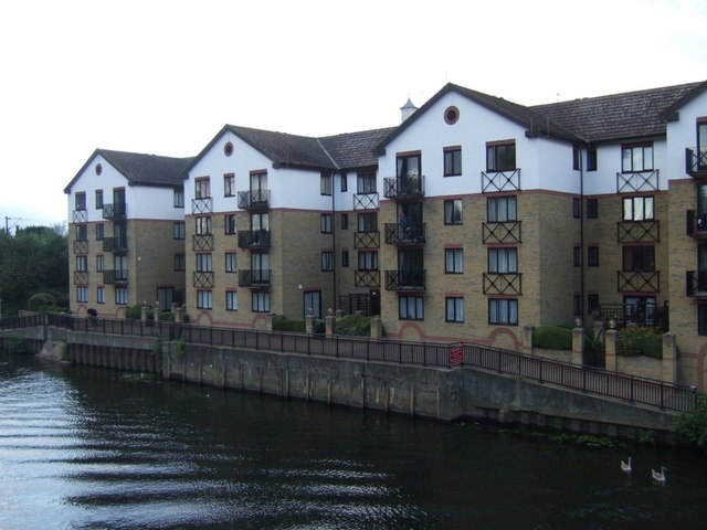 Apartments beside the River Nene