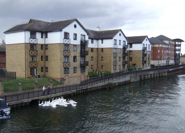 Apartments beside the River Nene
