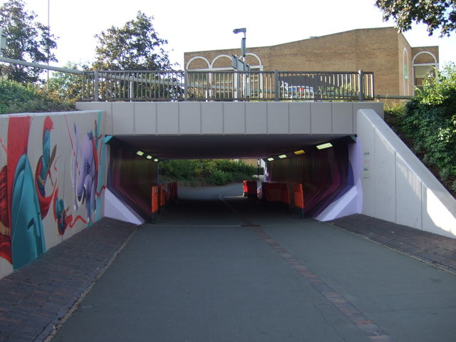 Underpass beneath Bourges Boulevard (A15)