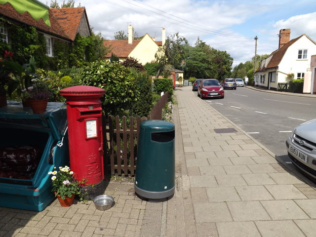 The Street & East Bergholt Post Office Postbox