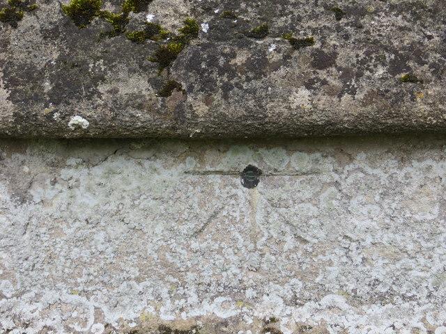 Ordnance Survey Cut Mark with Bolt