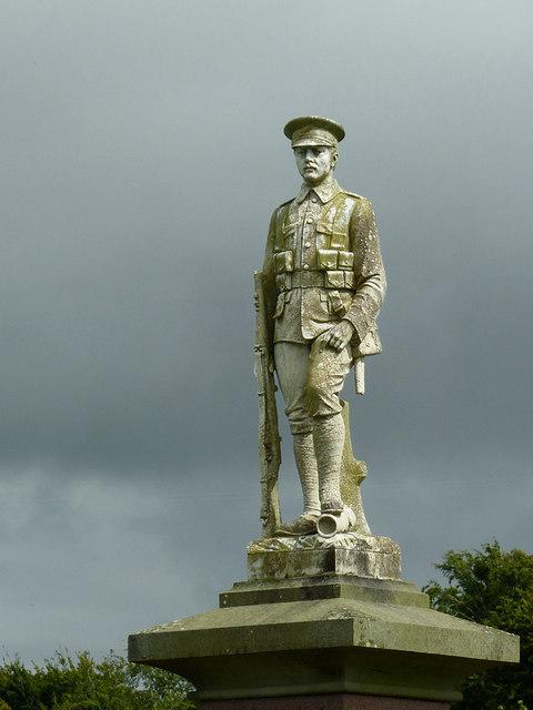War Memorial (detail) in Llanddewi-Brefi, Ceredigion