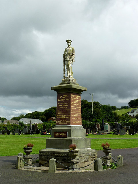 War Memorial  in Llanddewi-Brefi, Ceredigion