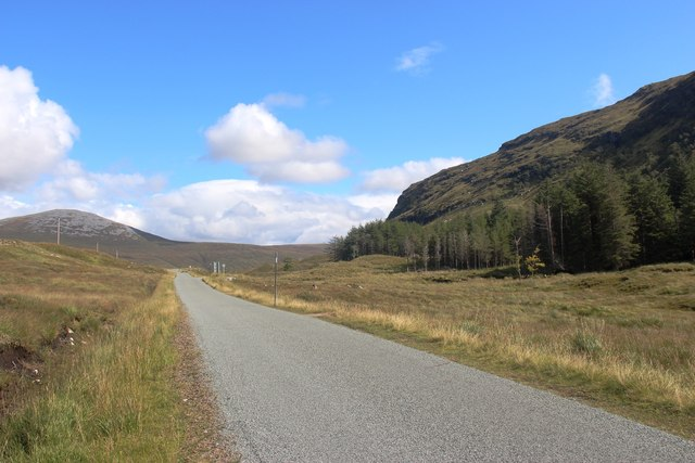 A838 heading east towards Lairg