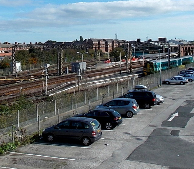 Western end of Chester railway station