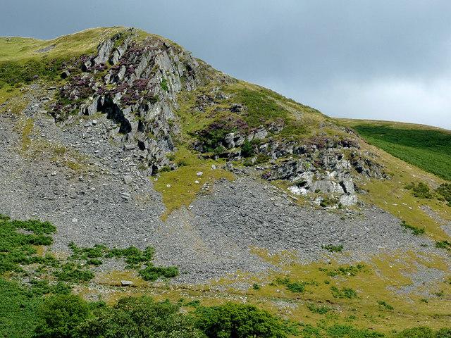 Craig y Foulallt east of Llanddewi-Brefi, Ceredigion