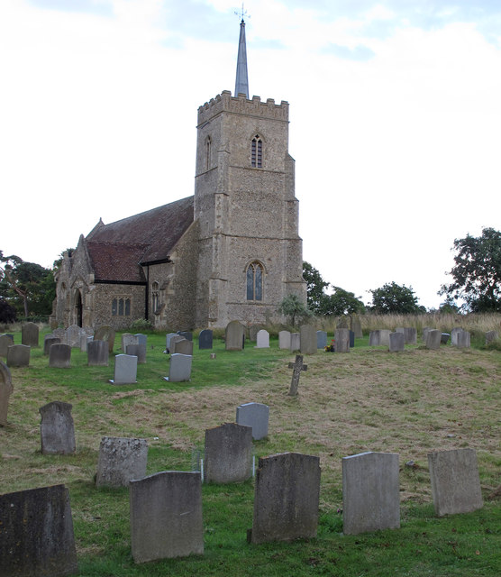 Church and churchyard, Sudbourne All Saints
