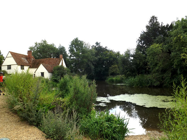 Willy Lott's House & Mill Pond at Flatford Mill