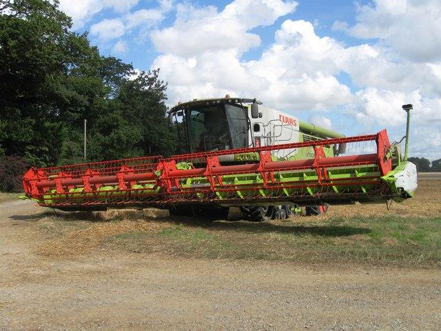 Combine Harvester, Hill Farm