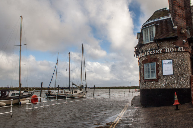 Blakeney Quay Flooded