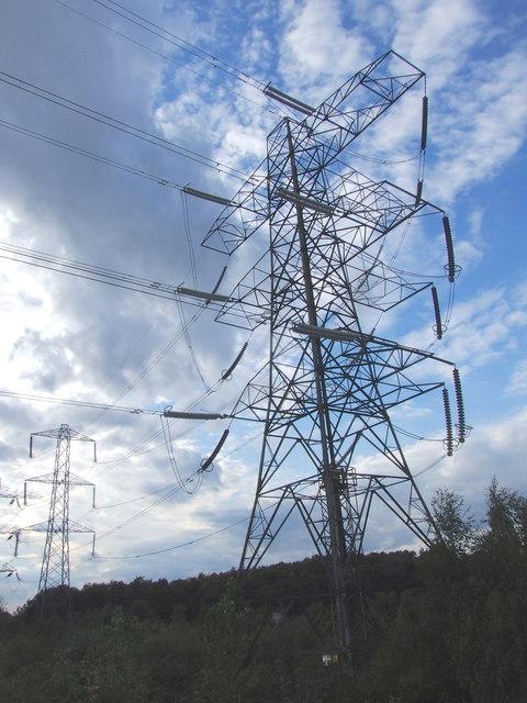 Pylons by Northfleet West Substation