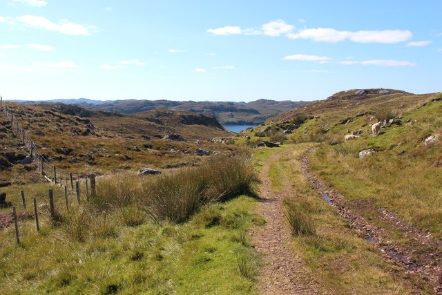 The peat road from Achriesgill