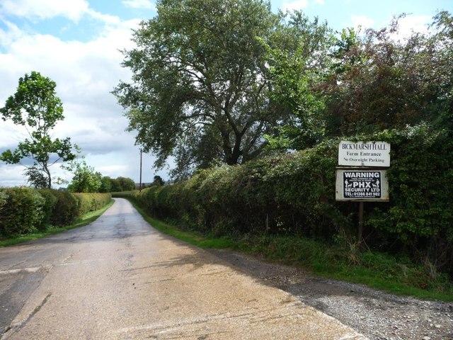 Northern [farm] entrance to Bickmarsh Hall