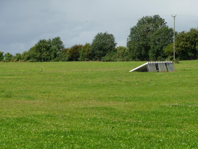 Field with a ramped structure, Clay Hall Farm