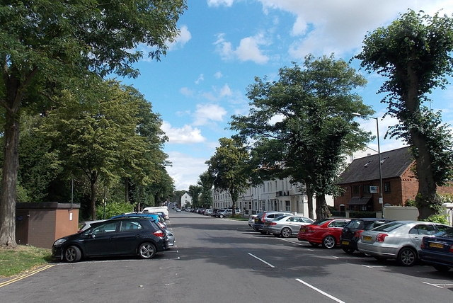 On-street parking, Beauchamp Avenue, Royal Leamington Spa