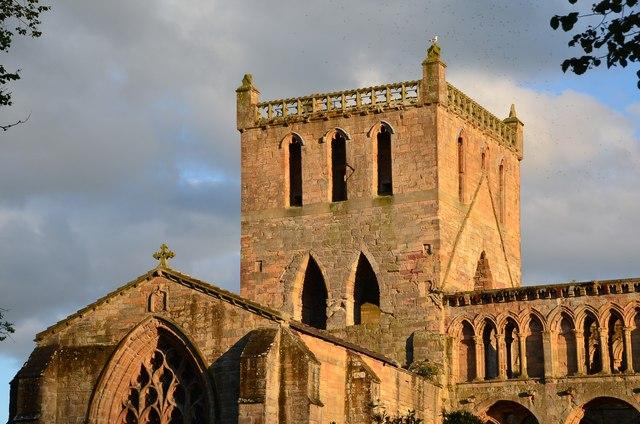 Evening sun on Jedburgh Abbey