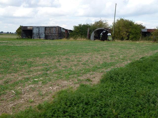 Rusting Farm sheds on Beach Lane, Gosberton Fen