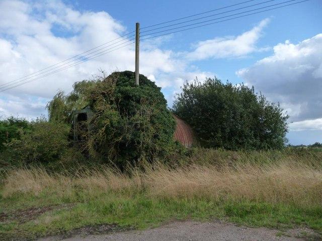 Nissen hut, south side of New Inn Lane