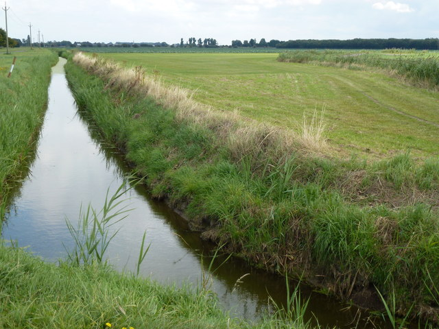 Dike between Gubbole's Drove and Beach Bank on Burtey Fen