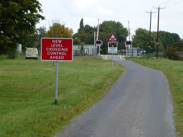 New level crossing on Gubbole's Drove