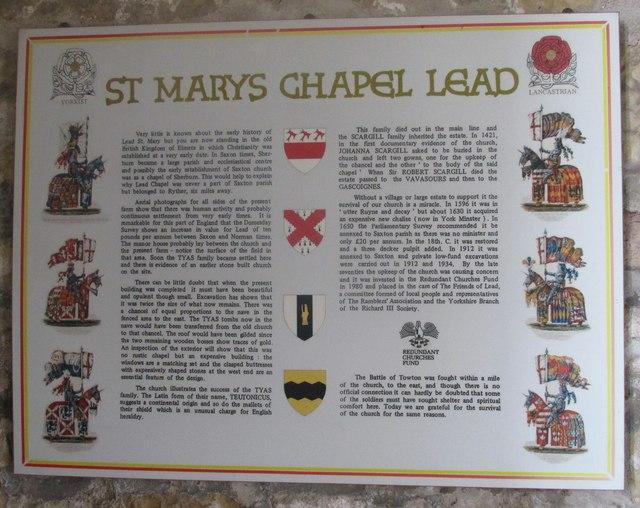 St.Mary's chapel, Lead  #5