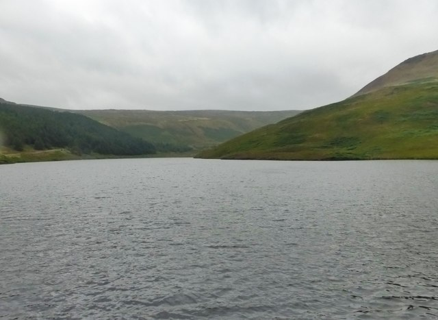 View from the dam at Yeoman Hey Reservoir