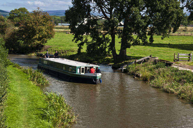A canal boat on the Lancaster Canal