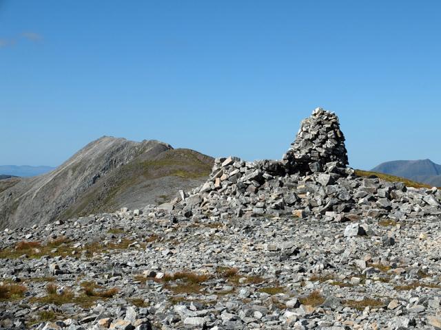 Cairn on the eastern summit of Beinn Liath Mhòr