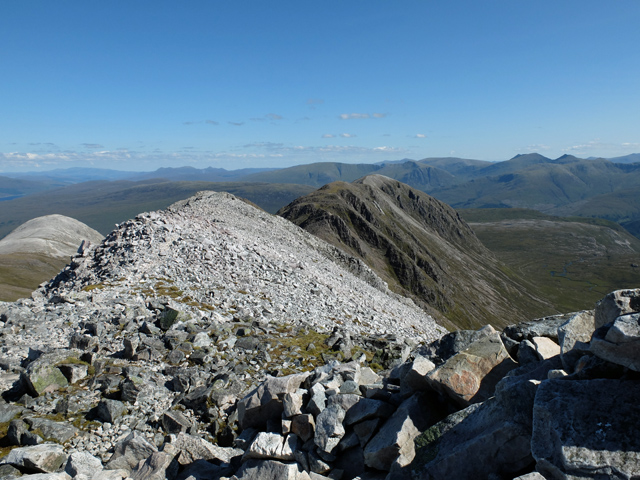 East from the summit of Beinn Liath Mhòr