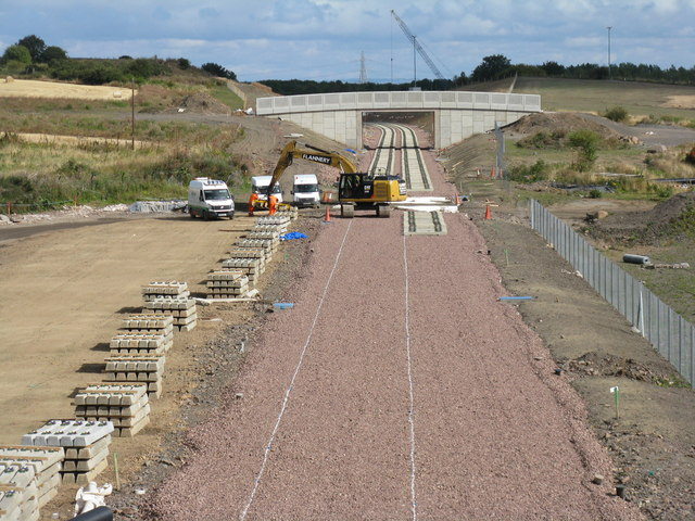 The Borders Railway taking shape at Shawfair