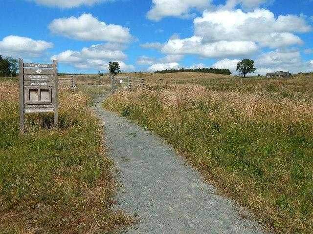 Start of a circular path