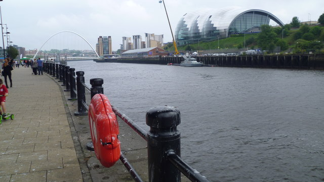 On the Quayside in Newcastle upon Tyne