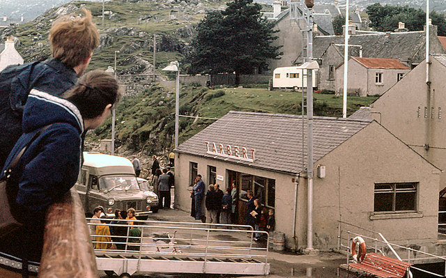 Ferry terminal at Tarbert in the 1970s