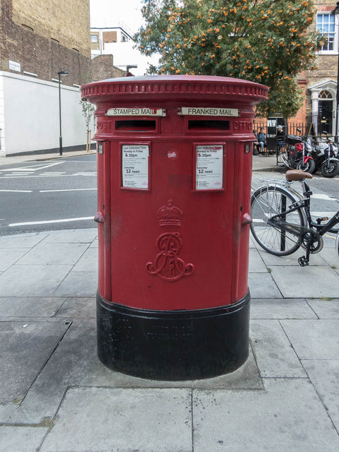 Edward VII Pillar Box on Corner of John Street, London WC1