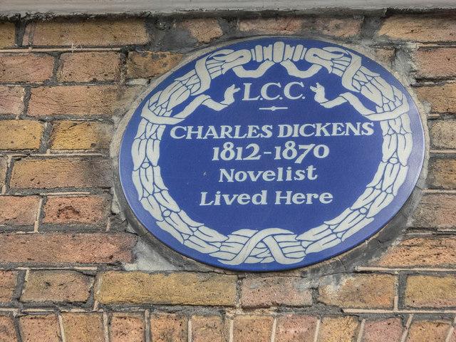 Wall Plaque, 48, Doughty Street, London WC1