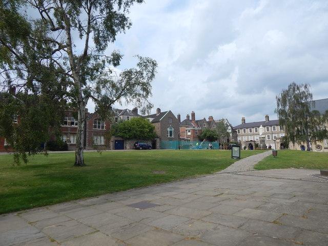 The Close green area, Norwich