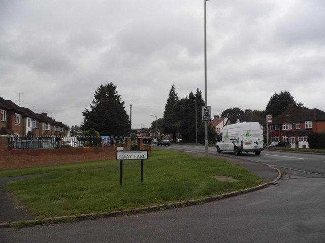 Savay Lane at the junction of Moorfield Road