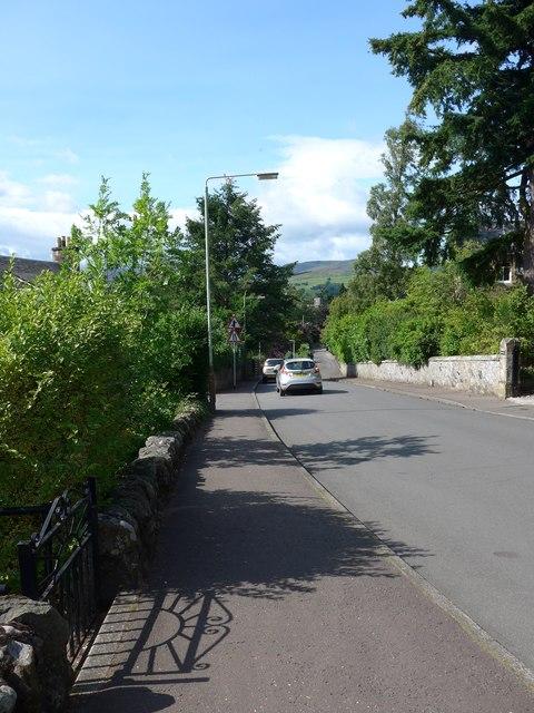 Looking north-west in Milnab Street