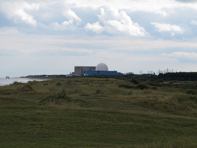 Looking to Sizewell from Minsmere Sluice