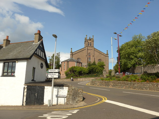 Looking from Milnab Street into Comrie Street