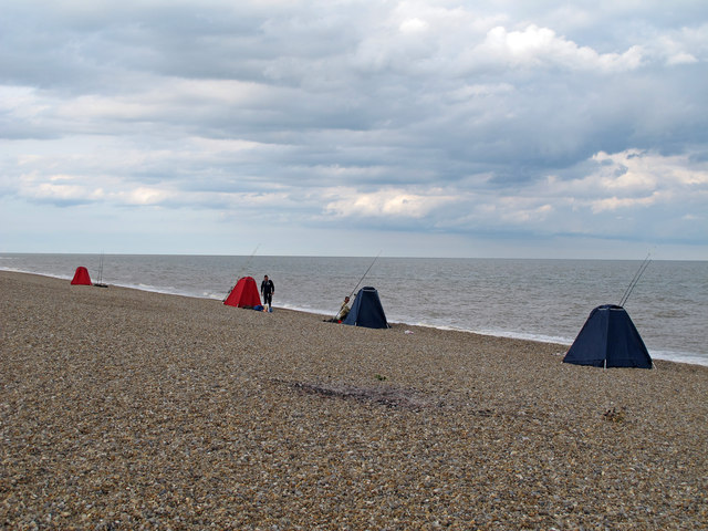 Sea Anglers at Thorpness Beach