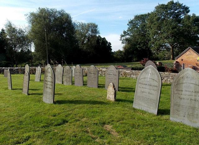 Churchyard gravestones, Cadeby
